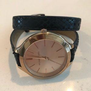 Michael Kors wrap bracelet watch.